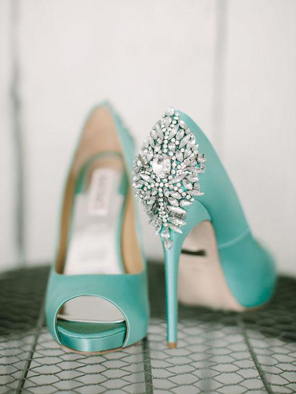 Scarpe Da Sposa Color Tiffany.Tendenze Per Il Matrimonio 2018 Scarpe Colorate Verde Acqua