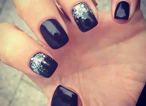 uñas negras decoradas - Buscar con Google | nails ...