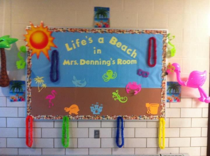 beach theme decorations | ... classroom decorating ideas summer bulletin boards classroom ideas