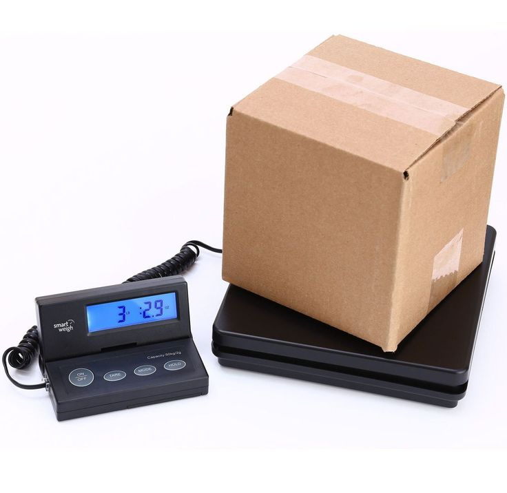 Digital Shipping Postal Scale 110lb Weight Limit Extendable Cord LCD Backlight #SmartWeigh