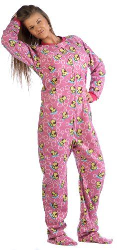 Footed Pajamas offer the best Footed Pajamas Splish Splash Pink Adult Fleece - Extra Large. #pajamas #footed
