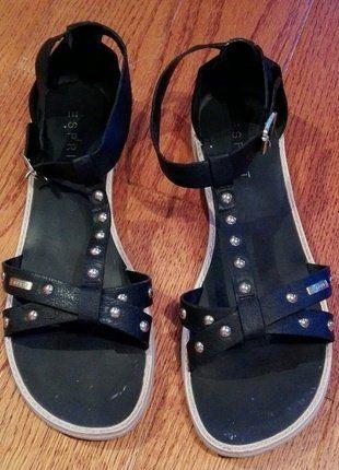 Kaufe meinen Artikel bei #Kleiderkreisel http://www.kleiderkreisel.de/damenschuhe/sandalen/152353287-schicke-schwarze-sandalen-von-esprit