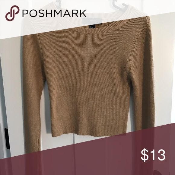 Forever 21 Camel Cropped Sweater Too Size S Excellent condition. Forever 21 Tops Crop Tops