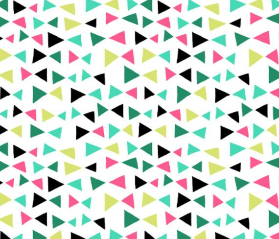 Fitted Crib/Toddler Bed Sheet  Tropical Triangles by AIMbaby