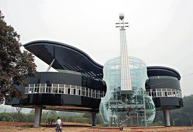 Piano & guitar building.: Music, Spaces, Favorite Places, Piano Building, Awesome, Art, House, Architecture, China