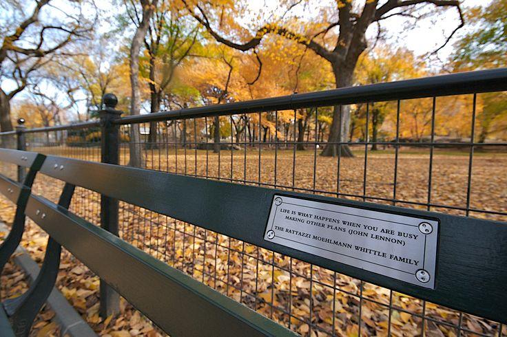 именны скамейки в центральном парке НьюЙорка - Поиск в Google