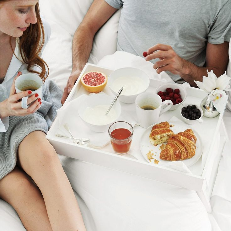 The White Company US. Breakfast in Bed Tray | From the romance of breakfast in bed to the reality of TV dinner, this lovely big tray is the answer. Fold away legs make the tray easy to store, while the top part is lacquered in a wipe-clean shiny finish. Pinning from the UK? -> http://www.thewhitecompany.com/home/home-accessories/kitchen-accessories/breakfast-in-bed-tray/