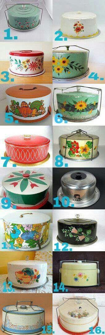 Vintage cake keepers