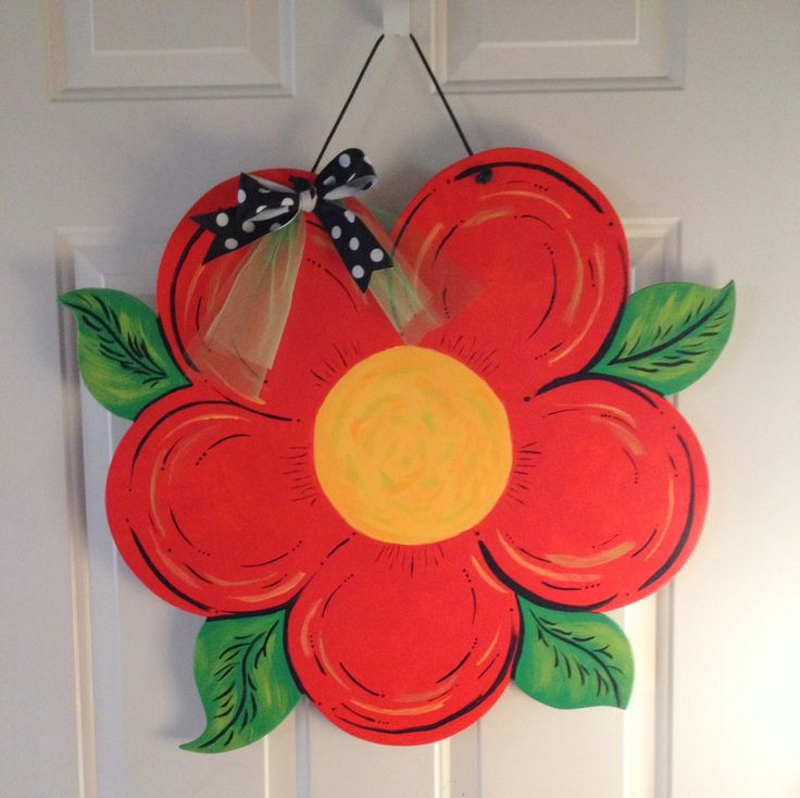 Mdf Door Hanger For The Spring Dorgans Door Decor