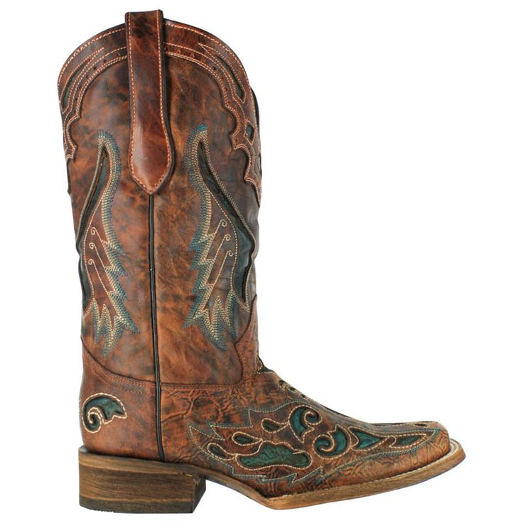 square toe Cowgirl Boots | Corral Square Toe Inlay Western Boots For Women | Tommp