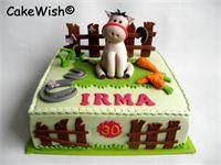 Voor Irma een taart met een paard.