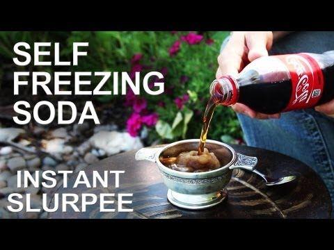 How to Make a Self-Freezing Coca-Cola Slushy (Or Any Kind of Instant Soda Slurpee)