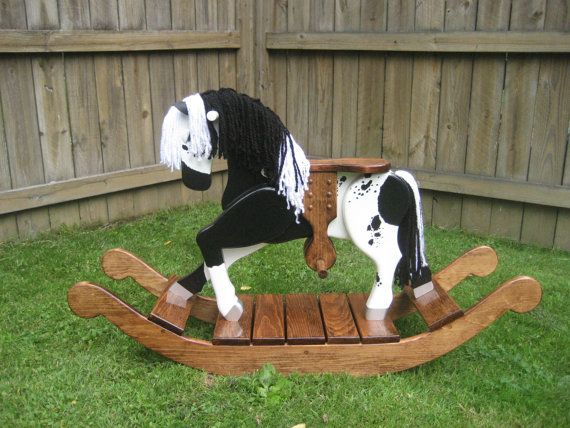 Abby The Appaloosa Wooden Rocking Horse by TrottWoodCreations
