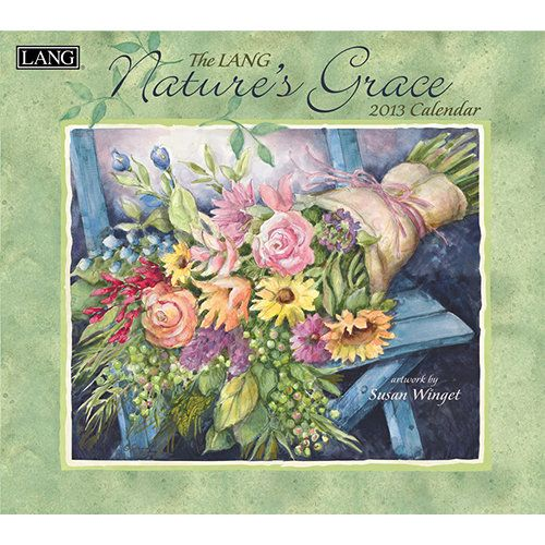 "Susan Winget Nature's Grace Wall Calendar: Susan Winget's ""Nature's Grace"" unites striking flowers and inspirational text to captivate all. Industry rated as the #1 calendar since 1999, LANG Wall Calendars are the most popular brand among consumers year after year.  $15.99  http://calendars.com/Flower-Art/Susan-Winget-Natures-Grace-2013-Wall-Calendar/prod201300001740/?categoryId=cat440038=cat440038#"