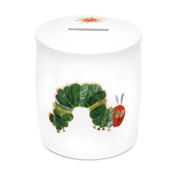 The Very Hungry Caterpillar Caterpillar Money Box ($15) ❤ liked on Polyvore featuring home, home decor, small item storage, multi, book-shelves, money box, book shelves, key bank and book-shelf