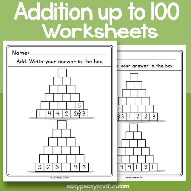 Pyramid Addition Up To 100 Worksheets Pyramids Worksheets Worksheets For Kids