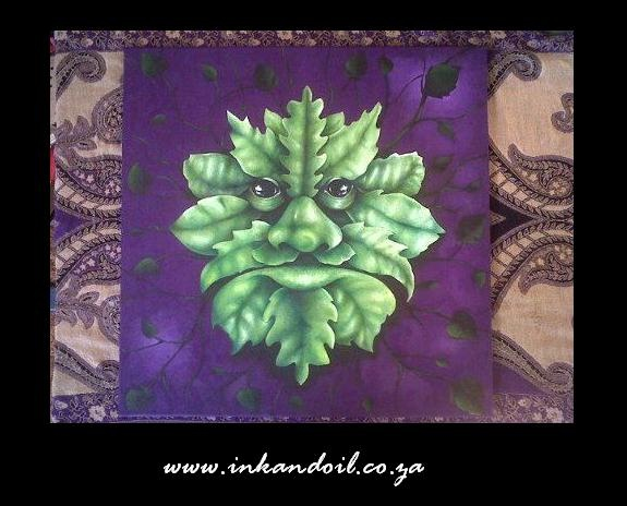 The Green Man  Oil painting on Canvas