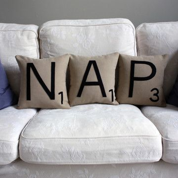 Fab.com | Letter NAP Pillow Set
