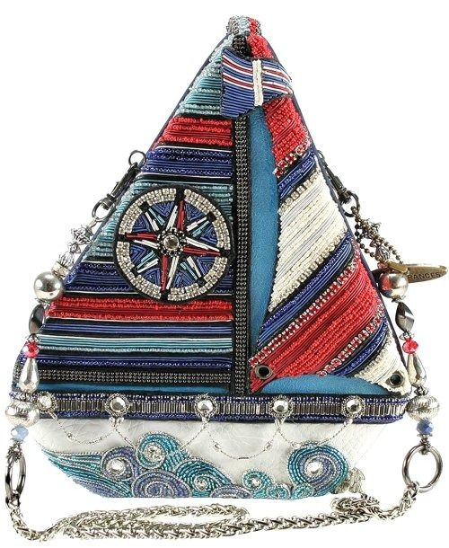 Mary Frances Nautical Sailboat Handbag