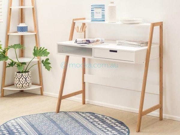 Mocka Maya Desk with Maya Corner Shelves