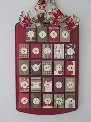 Calendario de adviento con cajas de cerillas