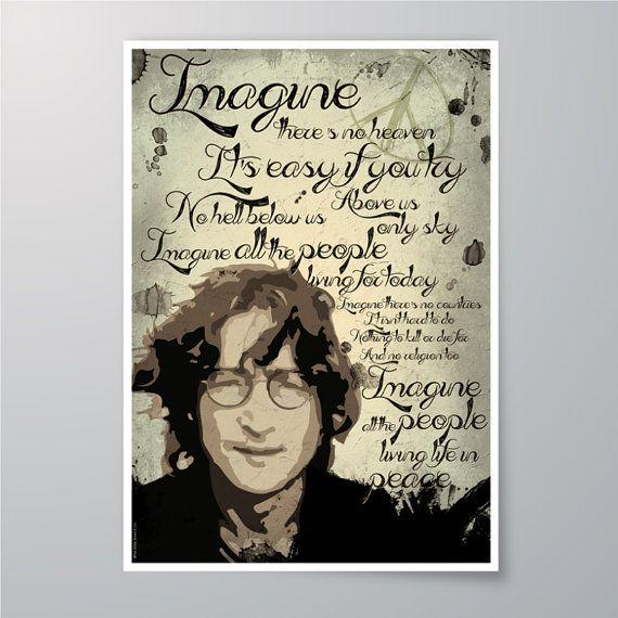 DOWNLOAD Printable John Lennon  Imagine Art for par whiteshoesandco