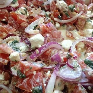Feta onion and coriander