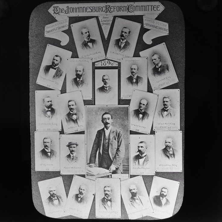Magic Lantern Slide Johannesburg Reform Committee Members Transvaal South Africa