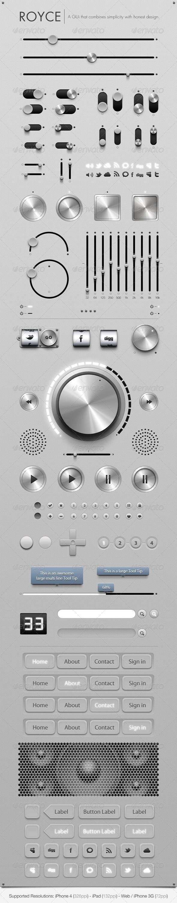 Royce - GUi - Graphical User Interface - GraphicRiver Item for Sale