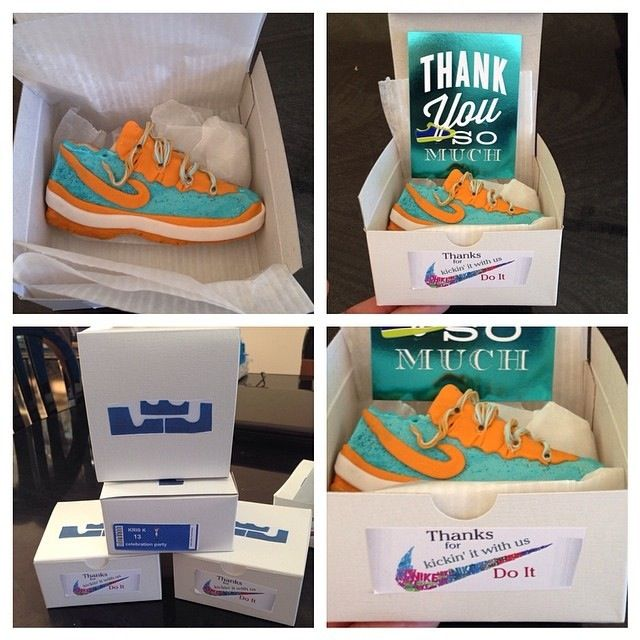 Nike Sneakers Cookies In Nike Boxes As Favors For A