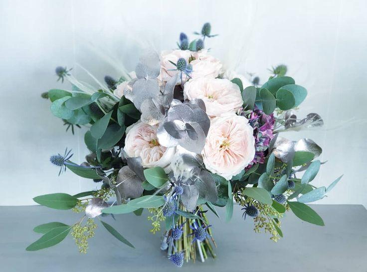 🌿 Brautstrauß 🌿. , Diese wunderschöne Austin Rose hat eine bezaubernde …   – hortensien