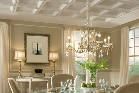 Coffered Ceiling - Plastic Ceiling Tiles