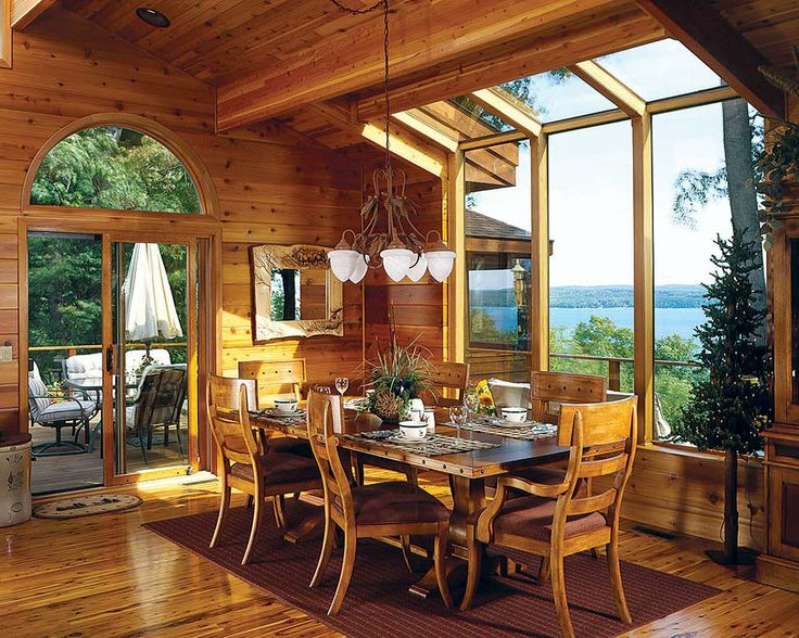 456 best images about lodge style interiors on pinterest for Log home sunrooms