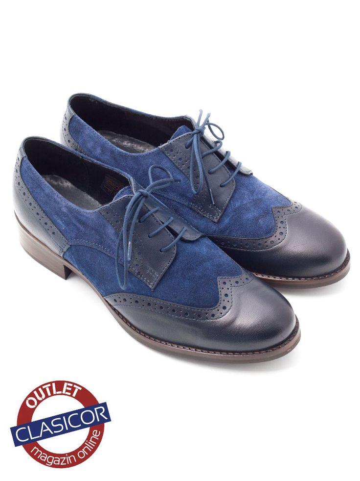 Pantofi casual dama blue box velur – 012 | Pantofi piele online / outlet incaltaminte piele | Clasicor