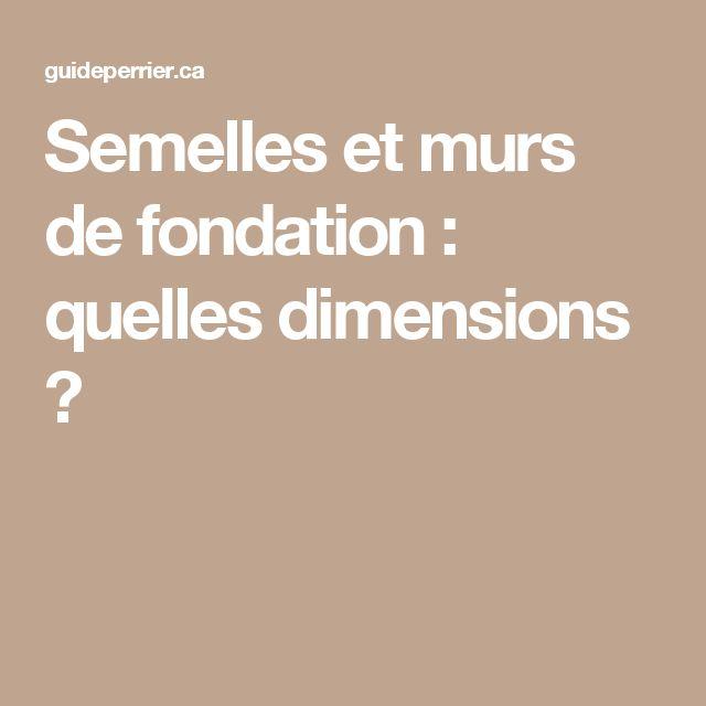 Semelles et murs de fondation : quelles dimensions ?