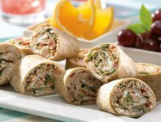 Salsa Tuna Roll-ups Ingredients  1 can (170 g) Clover Leaf Solid White Tuna in Water, drained  1/4 cup (50 mL) preferred Salsa  3 green onions, chopped  4 large (12 inch) flour tortillas  1/2 package (125g) cream cheese or light cream cheese (spreadable)  Preparation      In a small bowl, mix tuna, salsa and green onions. Blend in enough water to allow easy spreading, if required.      Lay tortillas one by one on a flat surface. Spread, roll, eat.