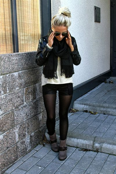 PU Shorts With Elastic Waist | Choies