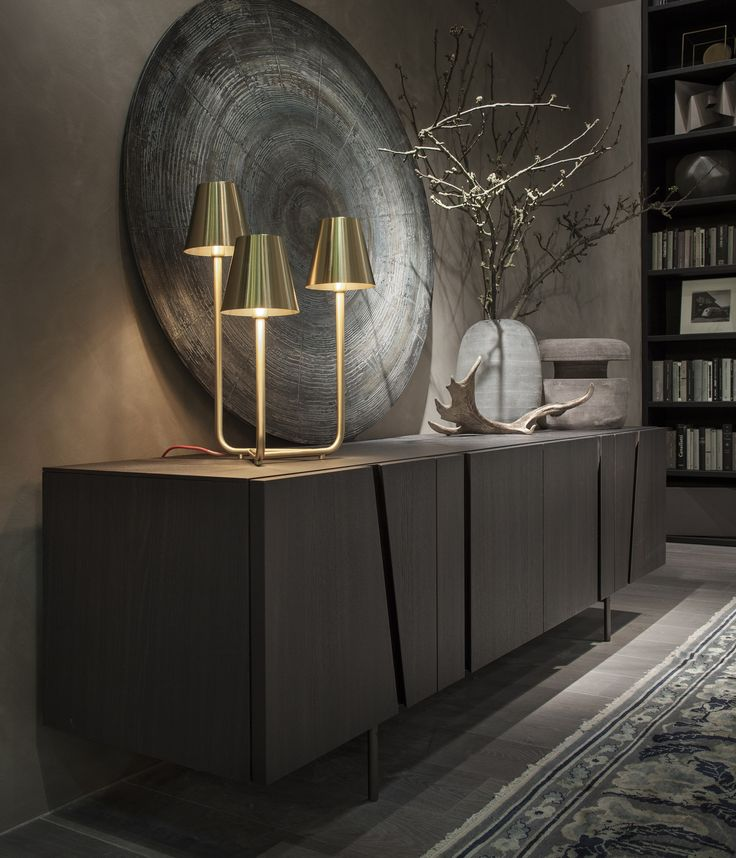 Oak sideboard PICTURE by Lema design Cairoli. Discover more: www.buffetsandcabinet.com | #cabinetdesign #contemporarycabinet #livingroomcabinet