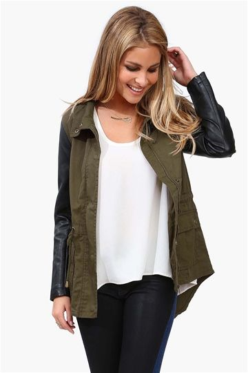 Recruit Jacket in Olive #Fall #fashion Get 8% cash back http://www.studentrate.com/itp/get-itp-student-deals/Necessary-Clothing-Student-Discount--/0