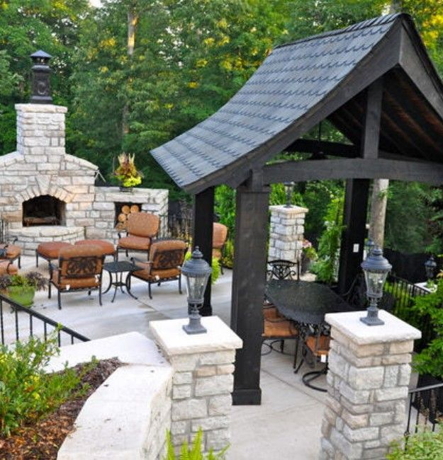 17 best ideas about backyard gazebo on pinterest gazebo for Outdoor gazebo plans with fireplace