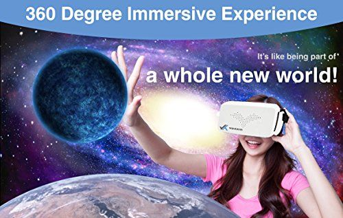 [ PREMIUM ] 3D Virtual Reality Headset For Samsung iPhone Android & Windows SmartPhone  Compatible with Google Cardboard VR Games & Apps - Perfect VR Goggles / Glasses for Gaming and 3D Videos