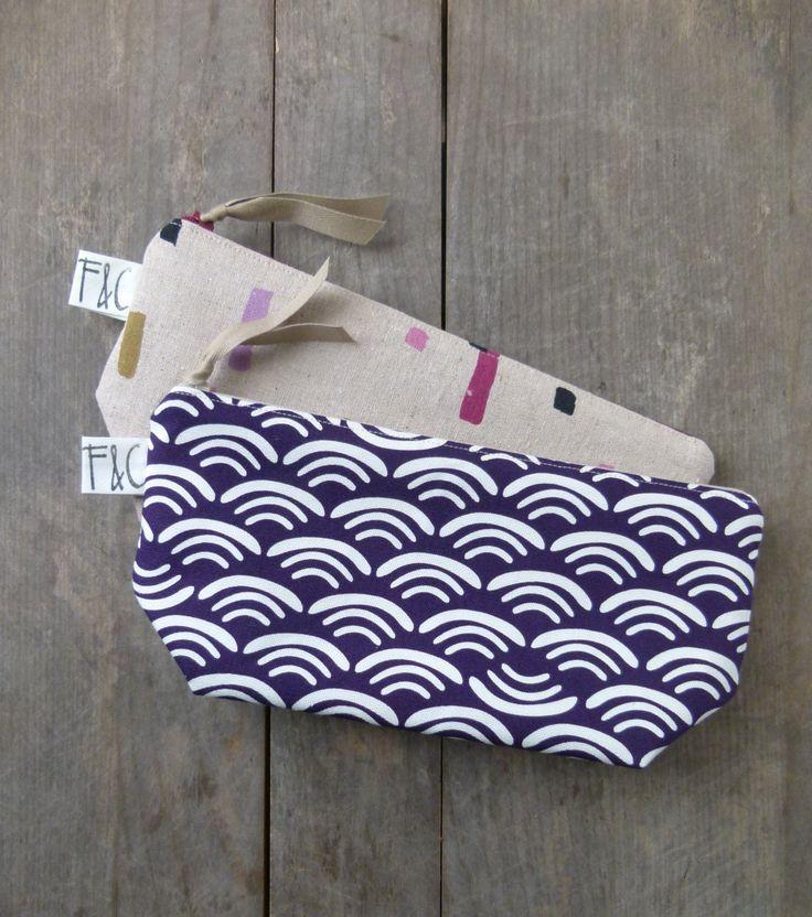 Deep Plum Organic Cotton Canvas Cosmetic Bag by frankieandcocopdx, $24.00