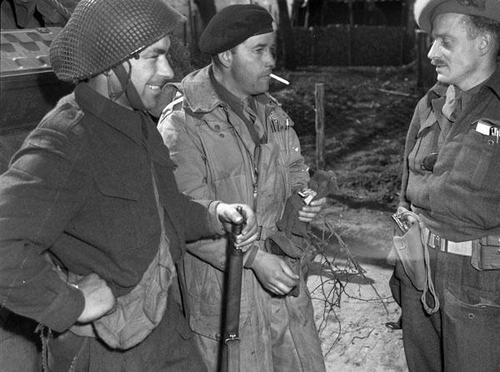 Canadians having a break. Canadian soldiers in the village of Holten, Netherlands, April 8th 1945.