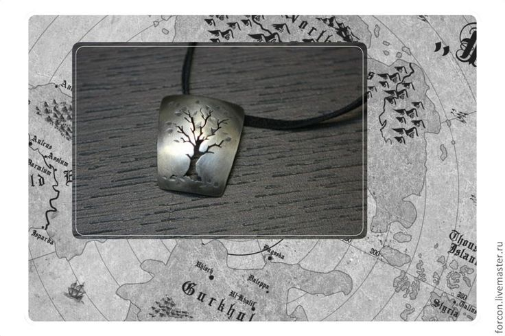 """Подвеска серебряная: """"Осеннее дерево"""" - серебряный,ювелирное украшение"""