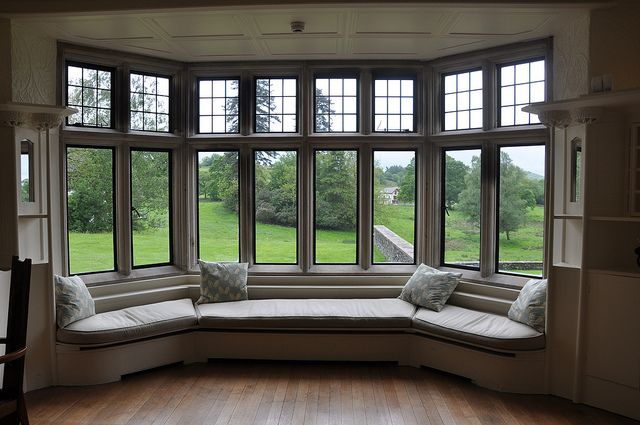 A big window seat (imagine this in a turret!) with accompanying bookshelves is a must!