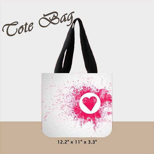 Red Attention Tote Bag (2 Side)