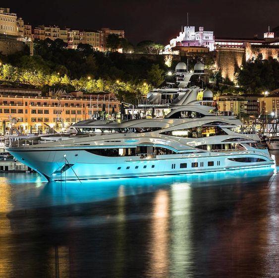 Beautiful night view with the luxury yacht. #yachtcharter #yachting #charter #ta…