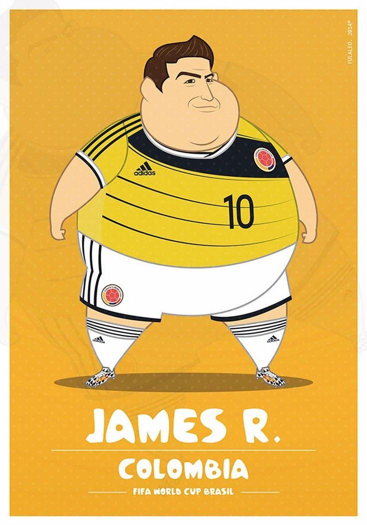 'Cracks' del fútbol pasados de pesoEl Mundial de los 'gordos'. James 10