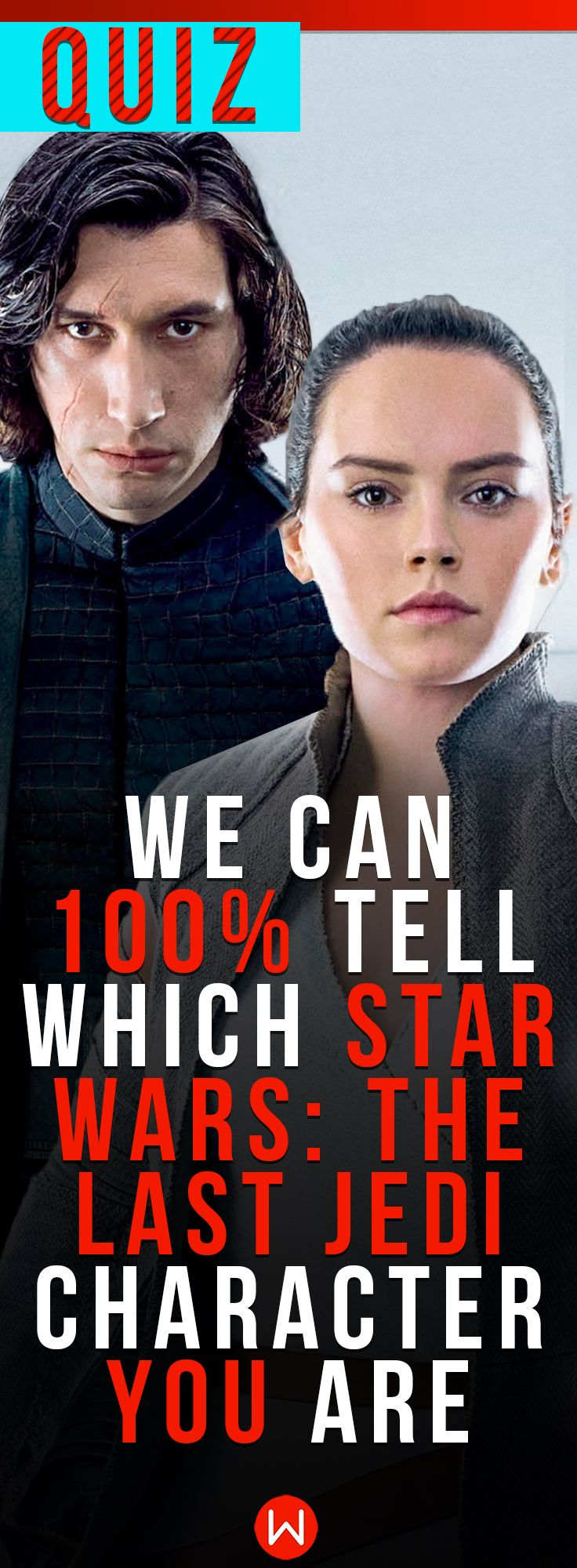 These 16 questions will reveal which Star Wars: The Last Jedi character you are! Star Wars quiz! Star Wars personality test! Star Wars: The Last Jedi, Kylo Ren, Porg, Rey, Leia, trivia, poster, knowledge, challenge! Thousands of characters! Which one are you?