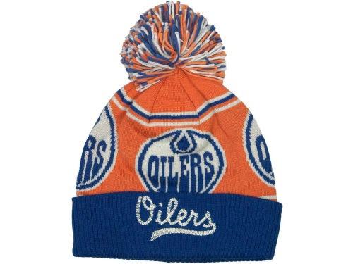 Edmonton Oilers CCM Hockey NHL Pom Knit 2012 Hats